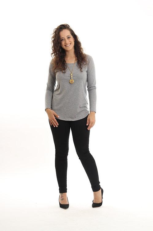 חולצת מאי אפור