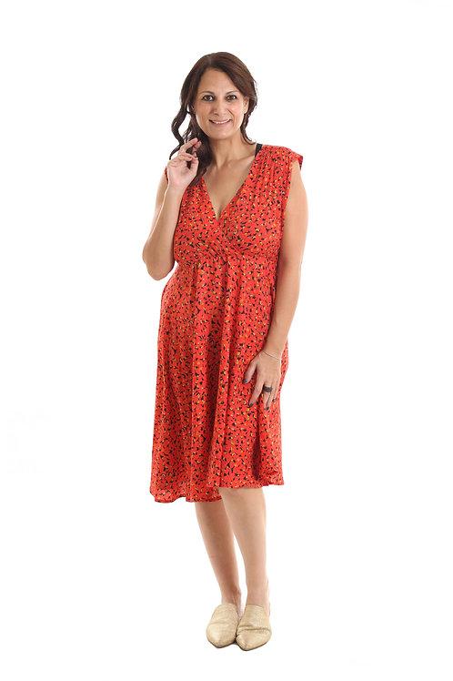 שמלת אלכסנדרה אדום הדפס