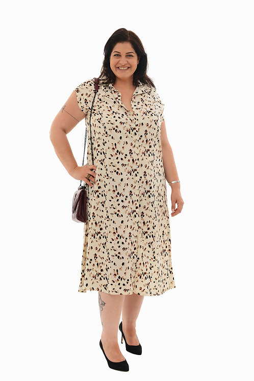 שמלת אמלי שמנת הדפס