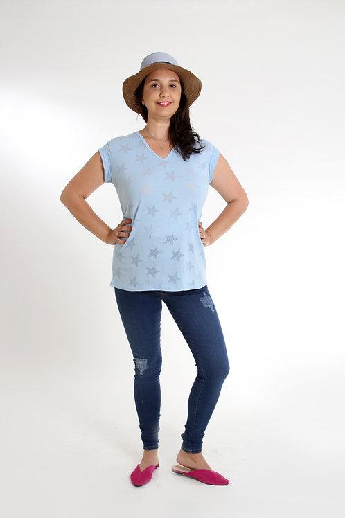 ג'ינס שלומית ארוך משופשף הריון