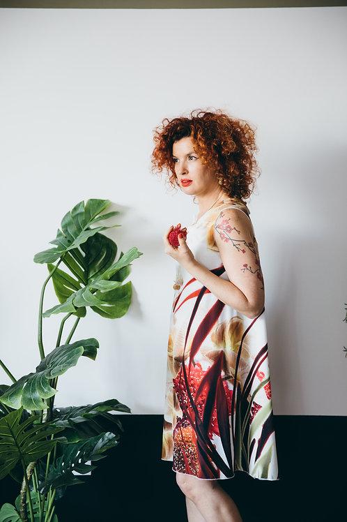 שמלת לורן שמנת הדפס פרחוני