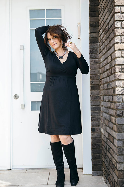 שמלת מעטפת שחור