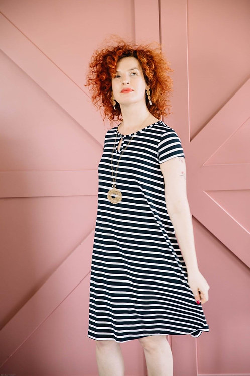 שמלת רונה פסים