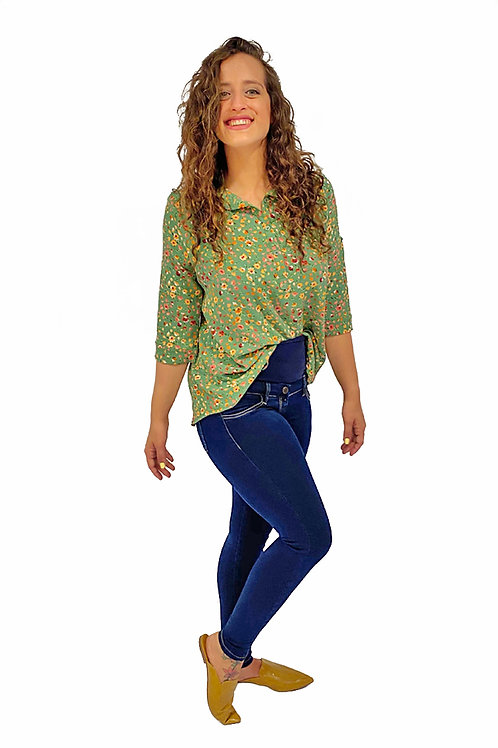 ג'ינס שלומית ארוך כחול כהה