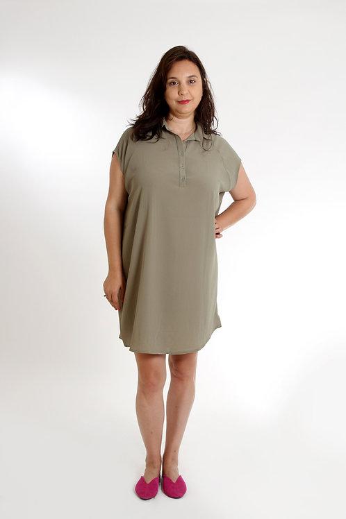 שמלת עלמה ירוק זית
