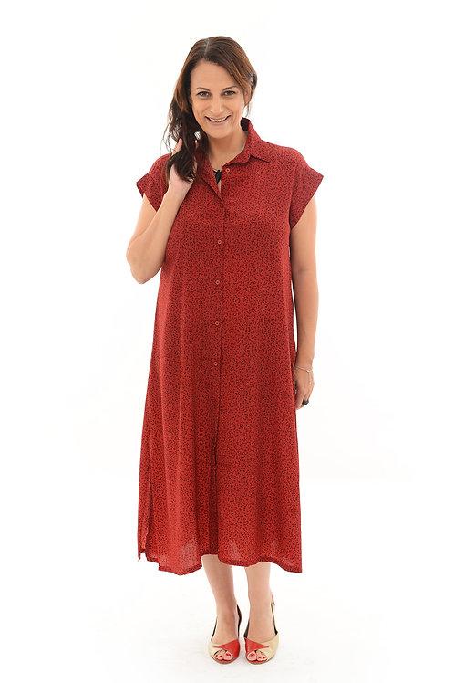 שמלת אמלי בורדו הדפס