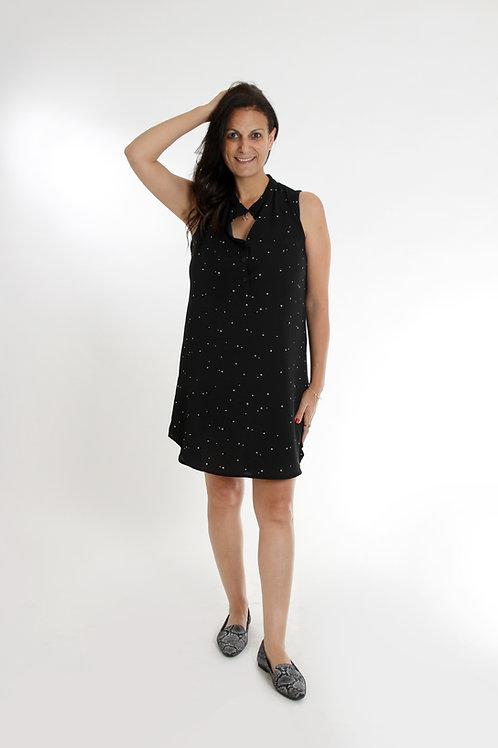 שמלת סטלה שחור נקודות