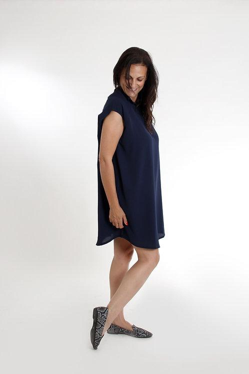 שמלת עלמה כחול נייבי