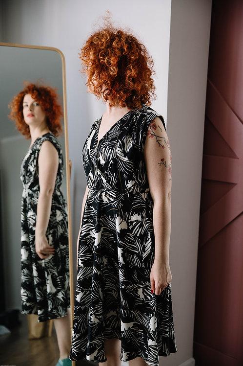 שמלת אלכסנדרה שחור עלים