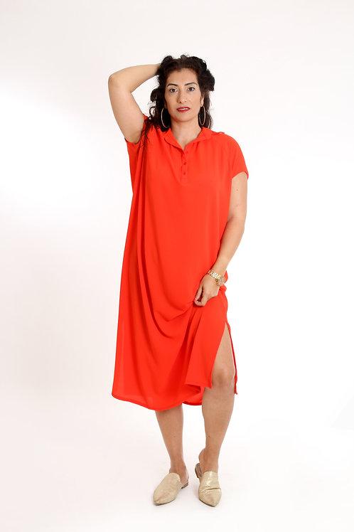 שמלת רותם מקסי אדום