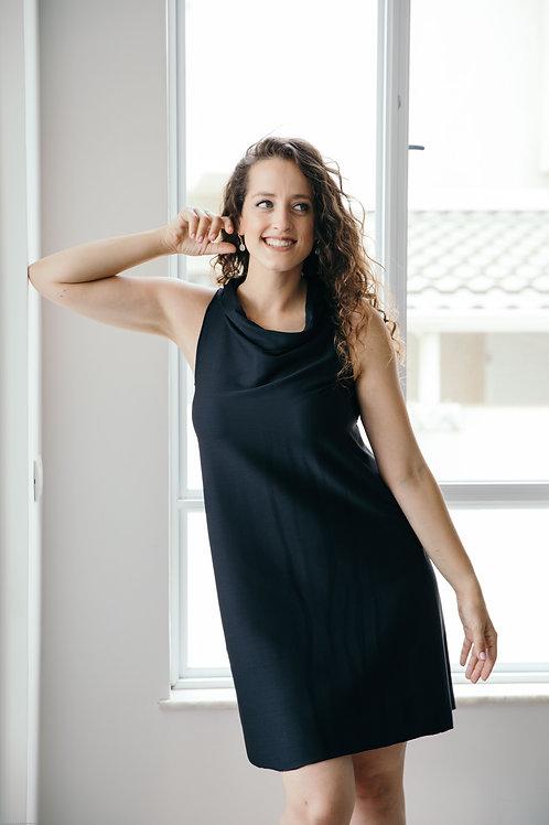 שמלת לורן שחור פסים