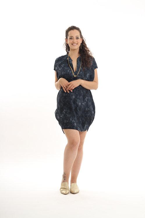 שמלת שרוך כחול ג'ינס