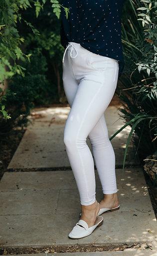 מכנס טריפ לבן