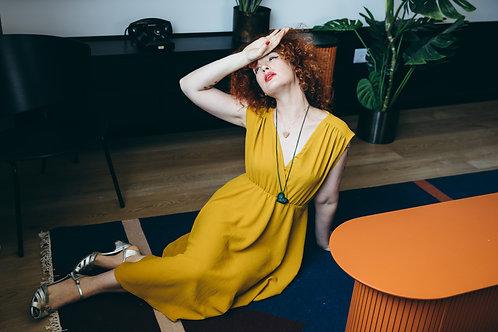 שמלת אלכסנדרה חרדל