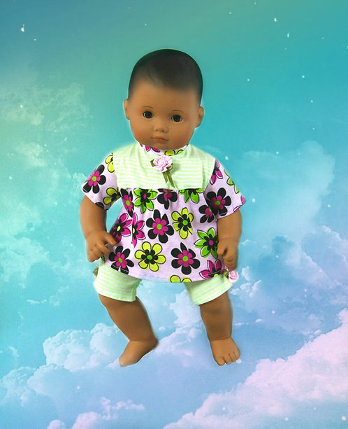 Soft flowers knit pajamas