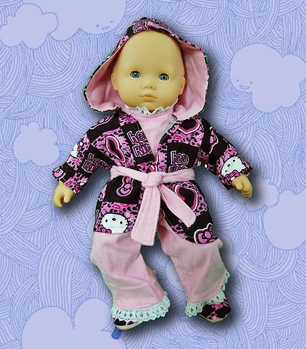 Kitty Robe and Pajamas