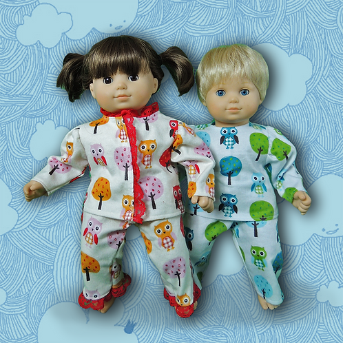Owl Forest Pajamas twin set
