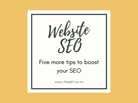 Five more tips to boost your website SEO