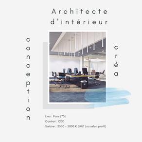 Architecte d'intérieur Créa Conception (H/F)