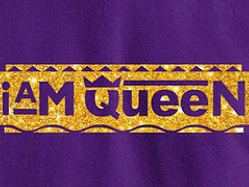 I am Queen Crew Neck Gold
