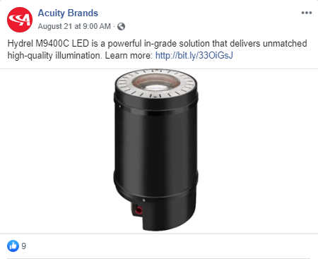 Acuity Brands Facebook Post