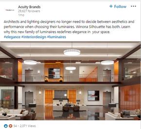 Acuity Brands LinkedIn Post
