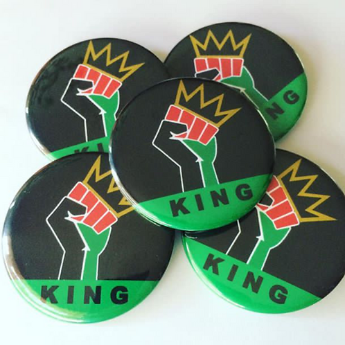 Hello, My Name is King/Queen Button