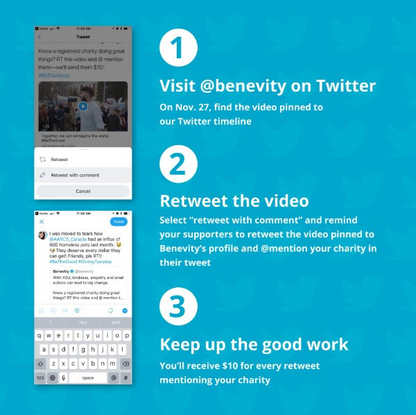 benevity giving tuesday campaign