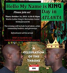 Hello My Name is King Celebration Invite