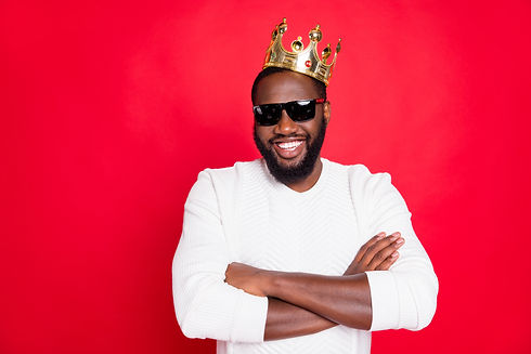 I am best! Portrait of confident afro am