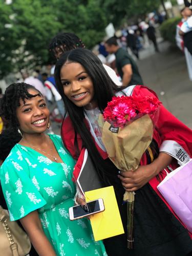 Celebrating my mentees high school graduation