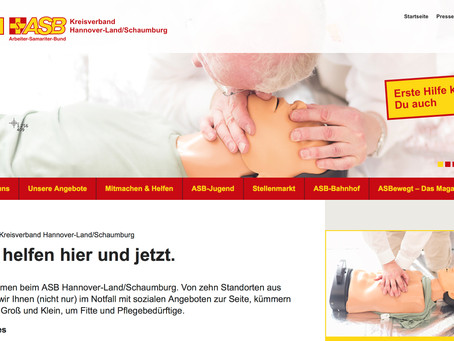 ASB Hannover-Land/Schaumburg-Website im neuen Kleid