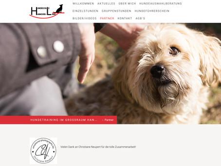 Hundeschule mit neuer Website