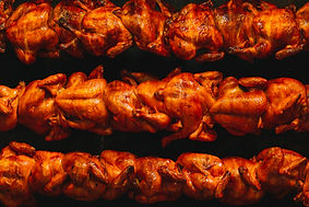delicious and juicy rotisserie chicken.j