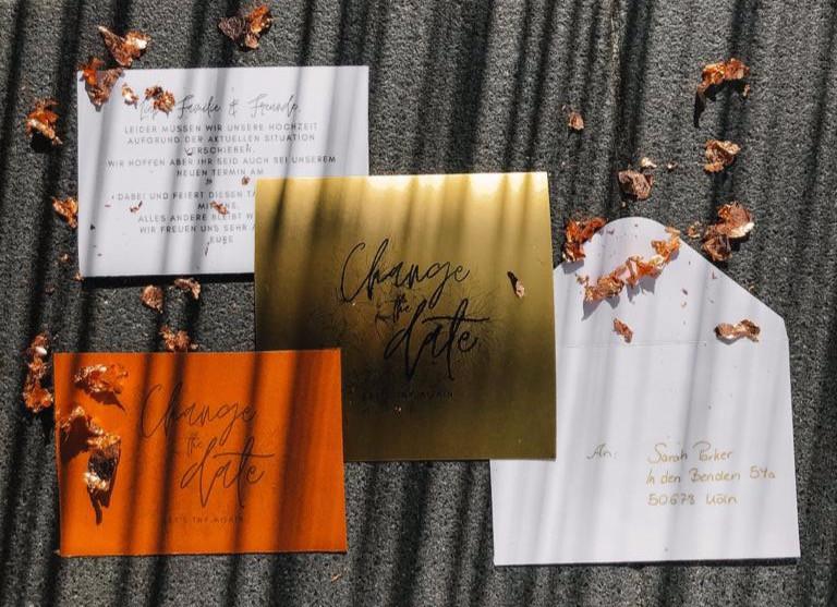 Change the Date Karten, Hochzeitsplanung