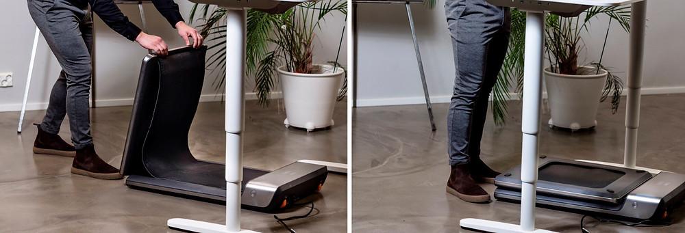 WalkingPad kävelymatto työpisteellä