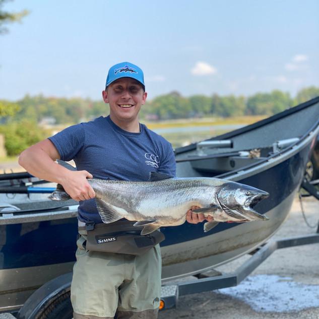 Salmon River King Salmon Drift Boat Fish