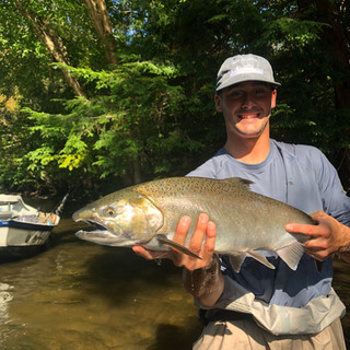 Salmon River Fishing Coho Salmon