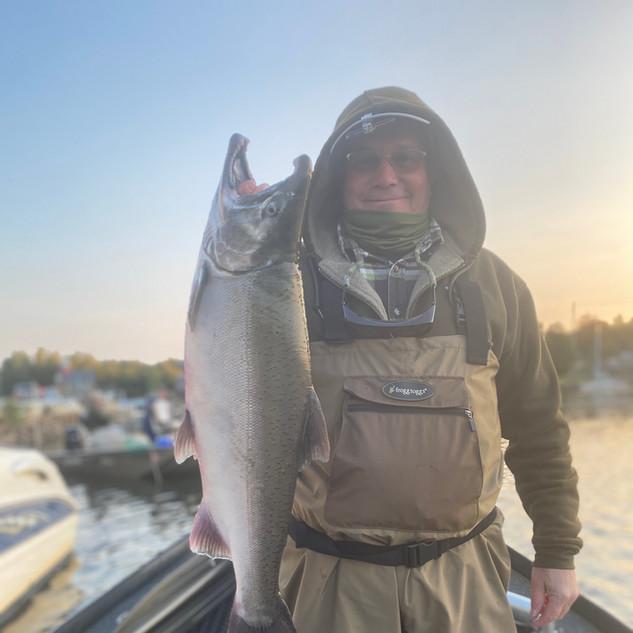 Salmon River Drift Boat Coho Salmon