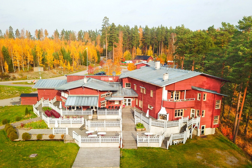 Elevated view of lodge