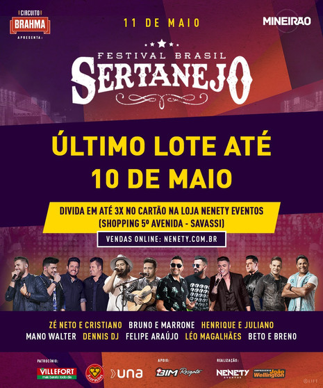 Contagem regressiva para o maior evento de música sertaneja do Brasil