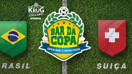 Bar da Copa exibirá Brasil x Suíça neste domingo