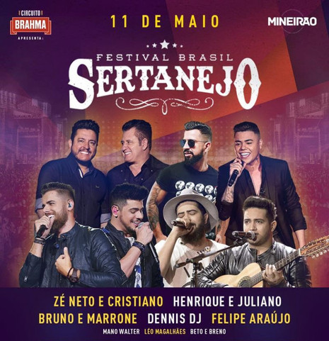 Festival Brasil Sertanejo tem ingressos mais baratos até 10 de abril