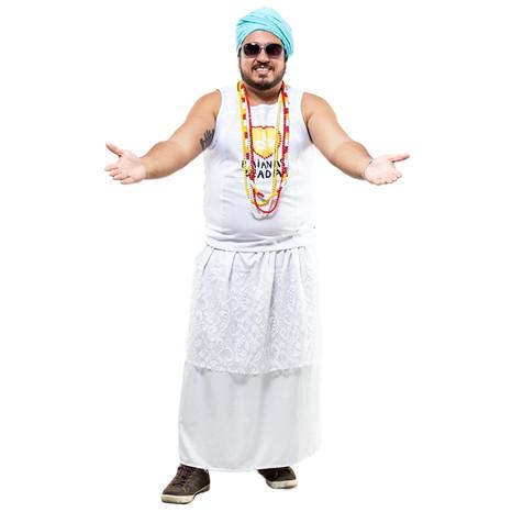 Saias e turbantes baianos fazem a moda dos foliões no carnaval de BH