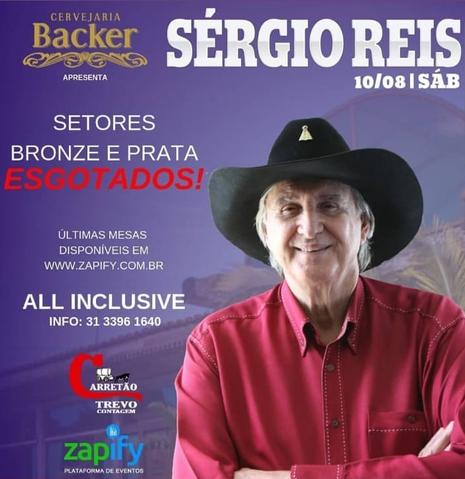Sérgio Reis se apresenta em Contagem na próxima semana