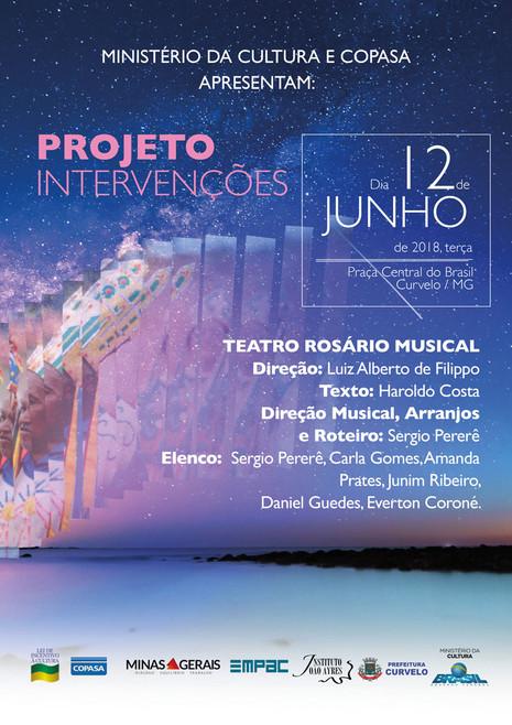 ProjetoIntervençõesacontece amanhã em Curvelo com apresentação do Teatro Rosário Musical