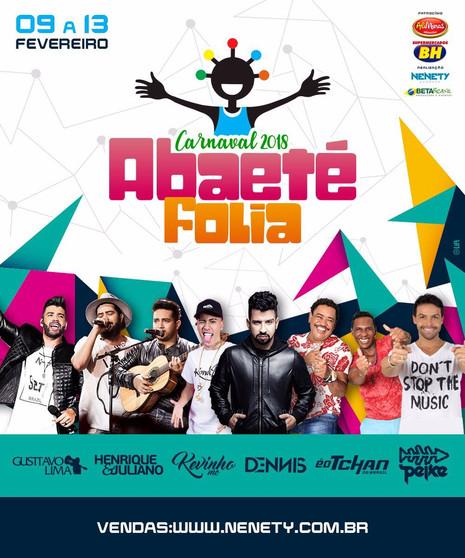 AbaetéFolia 2018anuncia shows deDennisDJ e Alexandre Peixeno trio elétrico