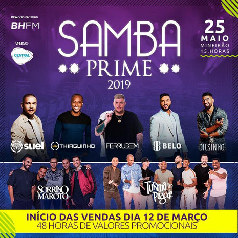 Grandes atrações nacionais estão confirmadas para a  8ª edição do Samba Prime