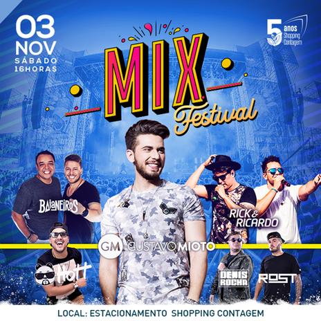 Primeira edição do Mix Festival acontece em Contagem no mês de novembro