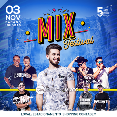 Mix Festival com Gustavo Mioto agita o feriadão em Contagem